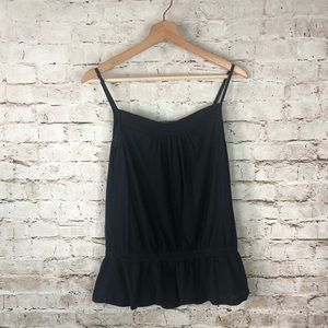 Women's Splendid Black Spaghetti Tank Top Small